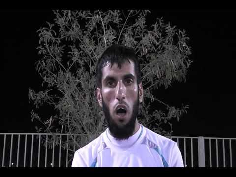 لقاء مع نواف الفهاد بعد نهاية المباراة النهائية لدورة السداسيات لكرة القدم ضمن فعاليات صيف الخفجي 2011