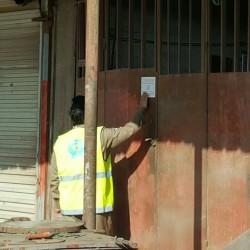 مدني الخفجي يغلق محلات بعد حملة تفتيشية