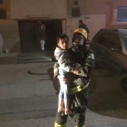 مدني الخفجي يسيطر على حريق بشقة في حي المحمدية بالخفجي
