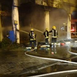 مدني الخفجي يخمد حريق في محل مفروشات دون وقوع إصابات