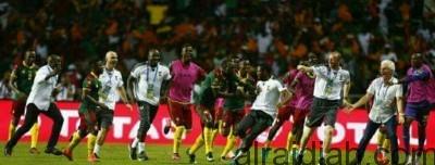 الكاميرون تفوز على مصر بكأس إفريقيا