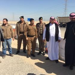 الهزاع يجتمع بالادارات المختصة والمقاولين لفتح منفذ للعوده بين الخنيني و الحرس الوطني