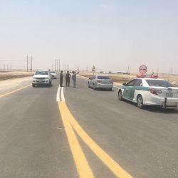 مرور الخفجي لسلامة طلاب معهد البترول يقوم بتعديل مسار الطريق المؤدي للمعهد