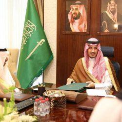 الأمير أحمد بن فهد بن سلمان يستقبل رئيس مجلس إدارة شركة أرامكو لأعمال الخليج بالخفجي