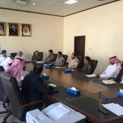اللجنة الفرعية للدفاع المدني  في #الخفجي تناقش مخاطر السيول و الأمطار