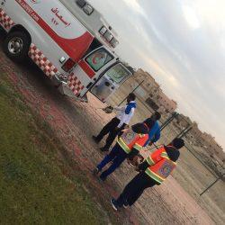 الهلال الأحمر السعودي بالخفجي يغطي مباريات الدوري لكرة القدم