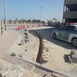 نقص أدوات السلامه المروريه توقف مقاول عن إكمال العمل في أحد المشاريع في الخفجي