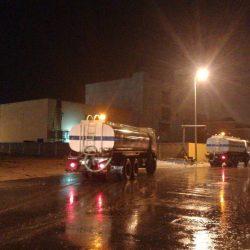 أمطار غزيره على محافظة الخفجي