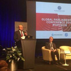 نائب رئيس مجلس الشورى يقدم عرضاً عن روية المملكة 2030 أمام الشبكة البرلمانية للبنك الدولي بواشنطن