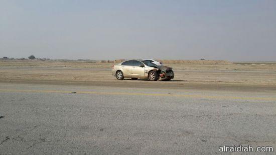 أنقلاب سيارة خليجيه ووفاة طفل بالقرب من السفانية