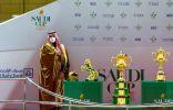 """نيابة عن خادم الحرمين .. ولي العهد يرعى حفل سباق """" #كأس_السعودية """""""