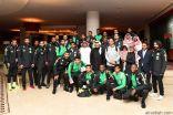 سفير المملكة لدى الأردن يستقبل بعثة المنتخب السعودي الأول لكرة القدم في عمّان