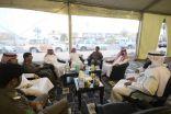 الهزاع و عدد من مدراء الدوائر بالخفجي يشاركون الجاليات إفطارهم