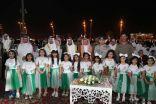 """مسيرة """"وطن"""" والفلكلور الشعبي في احتفالات أهالي الخفجي باليوم الوطني الـ 88"""
