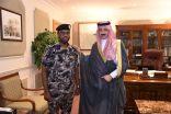 سمو الأمير بدر بن جلوي يقلد الدوسري رتبته الجديدة