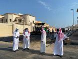 رئيس بلدية #الخفجي يتفقد مشروع سفلتة حي الورود